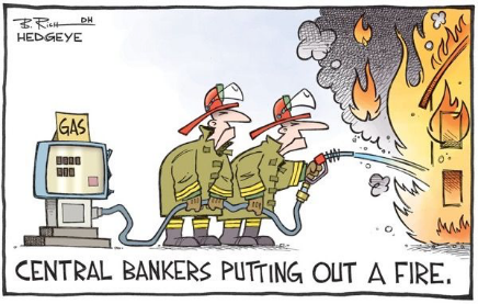 central banker fire cartoon