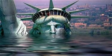 statue of liberty drowning