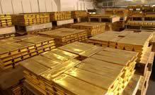 pallets of gold bars