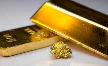 gold bars and a gold nugget